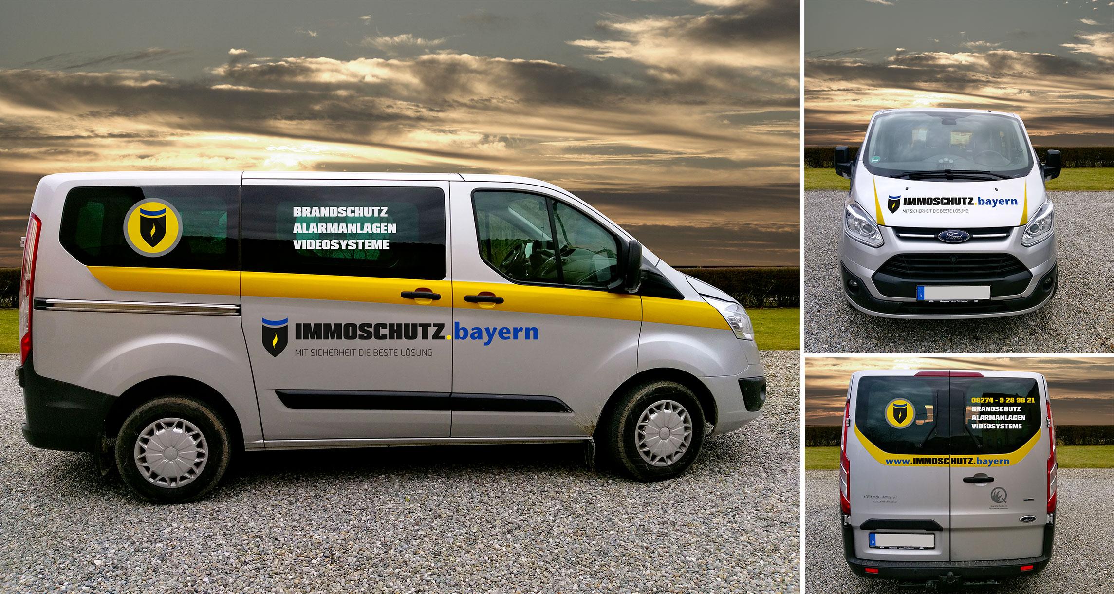 Branding Immoschutz.Bayern: Car Branding