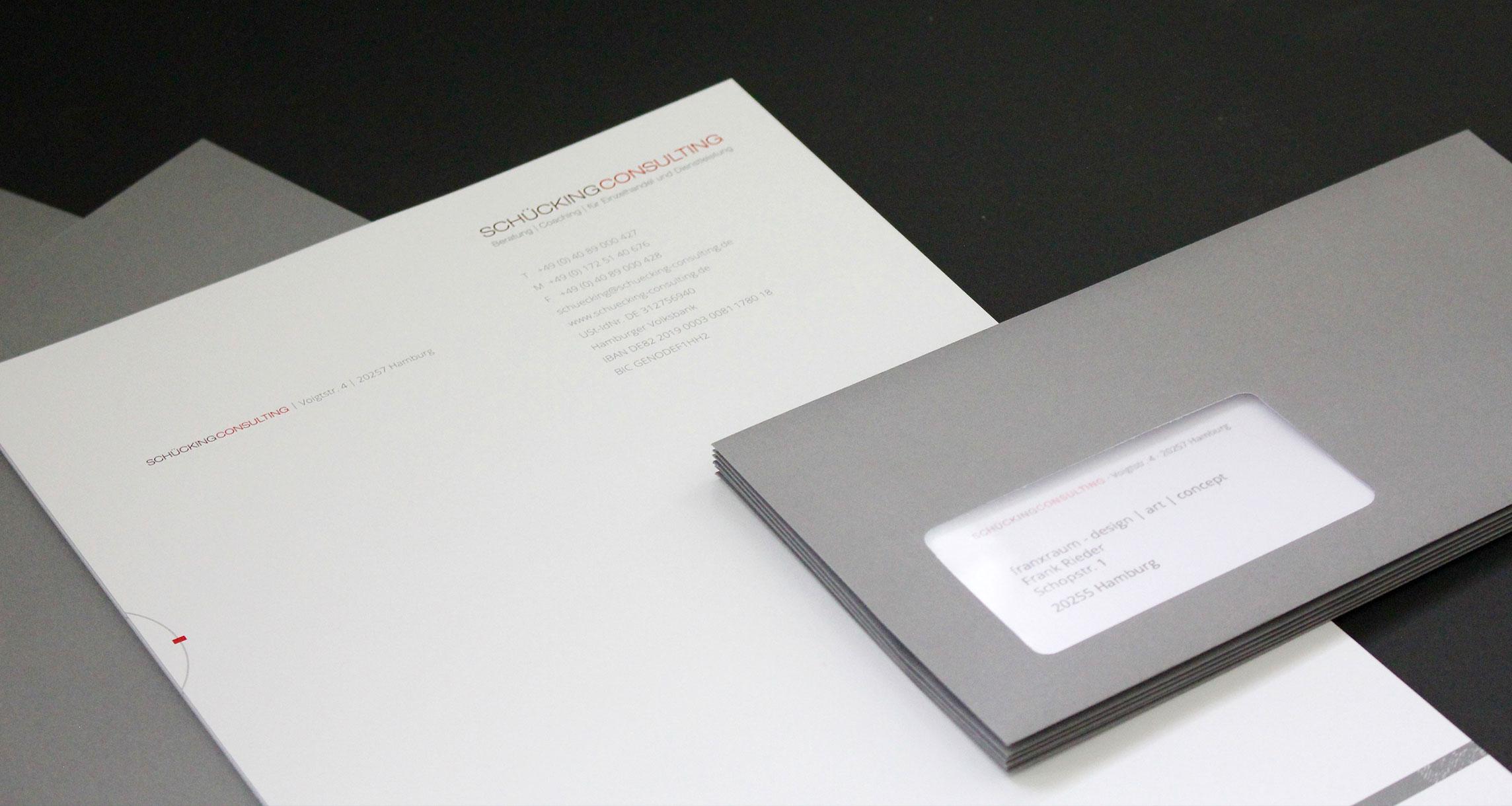 Geschäftsausstattung Schückingconsulting: Brief und Umschlag