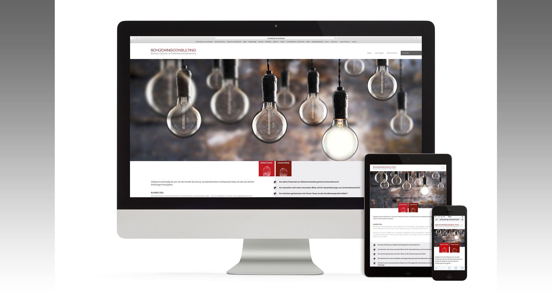 Webdesign Schückingconsulting : Responsive Website